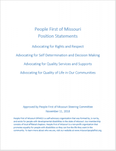 Cover of PFMO Position Statements document